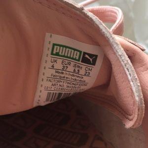 Puma Suede Classic Shine Womens Coral White NWT